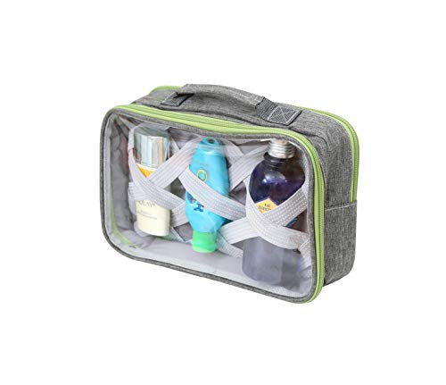 Travel Toiletry Bag by Travel Fusion - Large Size, With Clear Windows...
