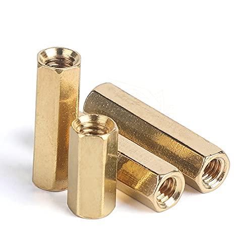 5-50 piezas hexagonal hembra a hembra M2 M2.5 M3 M4 M5 latón separador hexagonal espárrago espaciador hueco pilares-M2XL (50 unidades), 11 mm