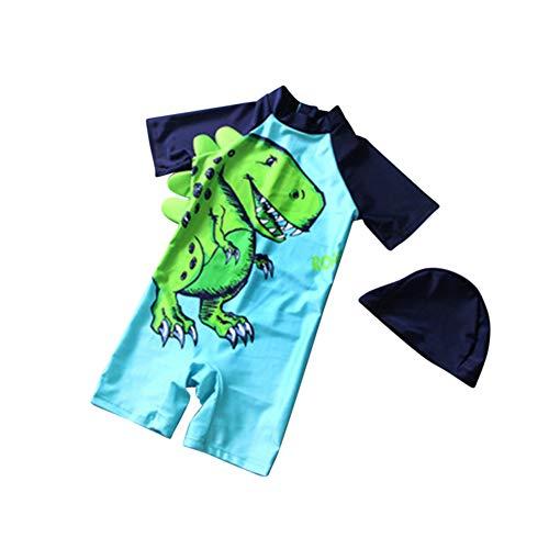 ETbotu baby meisje kleding, baby kleding - 2 Stks/set Jongens Kids Cartoon Dinosaur afdrukken Badpak Moslim Zwemkleding met Cap