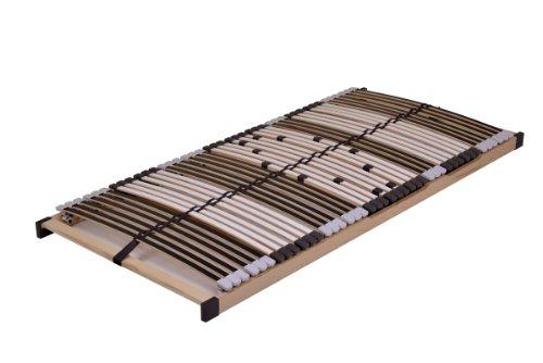 DaMi Lattenrost MediFlex T200 90 x 200 cm - 7 Zonen Lattenrahmen Mit 6-Fach Härteverstellung - Starr