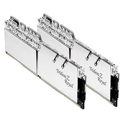 G.Skill Trident Z Royal - Modulo di memoria DDR4 da 16 GB, DDR4, 3200 MHz, 16 GB, 2 x 8 GB, DDR4, 3200 MHz