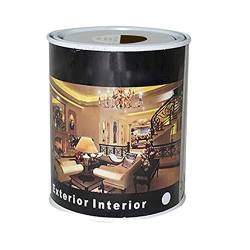 Pintura Esmalte al Disolvente para Madera y Metal, Pintura Alquidica de Rápido Secado para Superfícies Interiores y Exteriores(Marron, 375 ML)