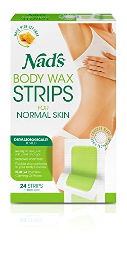 Nad's Hair Removal Strips, 24 Strips (Pack of 2)