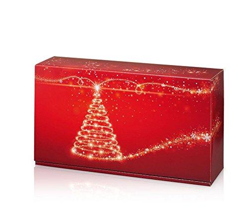 10 Stück Weinverpackung, Flaschenkarton - Christmas Tree (für Zwei Flaschen)
