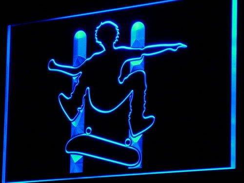 Lichtfluter i794-b Skateboard Neon Light sign Barlicht Lichtwerbung Neonlicht