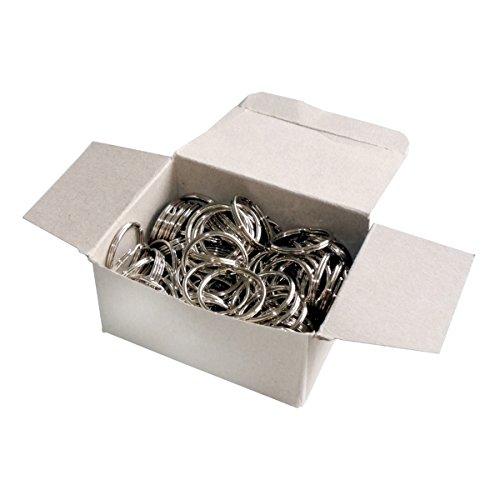 Wedo 2623030 Schlüsselringe Metallringe (30 mm Durchmesser, glanzvernickelt) 100 Stück, silber