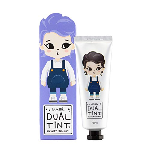 MASIL Dual Tint Color & Treatment 1.7oz Temporarily for 2 weeks lasting. Hair dye kit from teenagers to thirties. 20 hair color you can choose with blonde, purple and pink (Ash Violet)