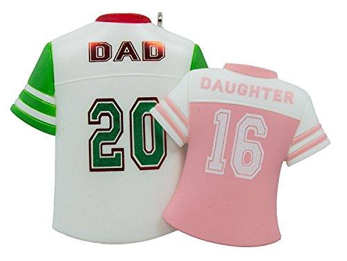 Hallmark Keepsake Ornament Dad and Daughter Colorful Jerseys 2016