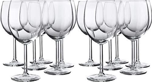 Ikea 300.151.23 Svalka Rotweinglas, klares Finish, 284 ml, klassisches Schalen-Design, 2 Packungen mit je 6 Gläsern, insgesamt 12 Gläser