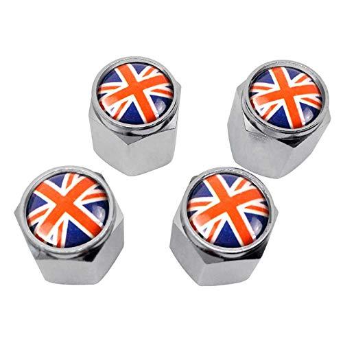 Automóviles Accesorios Reino Unido EEUU Flag Válvula Caps para Abarth 500 Panda Vauxhall Zafira Opel Smart Ford BMW Tire Tire Thole Tape Accesorios para Llantas (Color : UK)