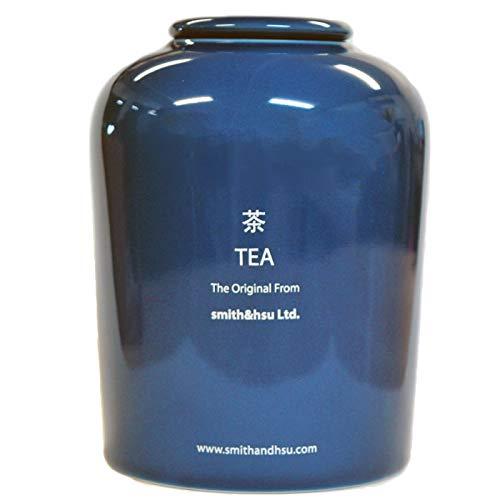キャニスター 茶筒 陶磁器 陶器 密閉 保存容器 450ml コーヒー おしゃれ 紅茶 smith&hsu 大きい スミス&シュー シンプル ストッカー ギフト キッチン雑貨 茶葉入れ プレゼント 贈り物 茶筒,ロイヤルブルー
