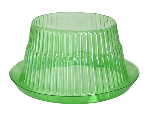 Windhager Schneckenabwehr Schutzring, Schneckenkragen, zur Abwehr von Schnecken - schützt Pflanzen vor Tierfraß, Ø 23 cm, 6 stück, grün, 02435