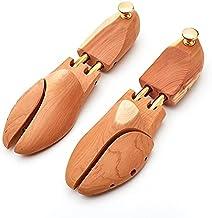 Natuurlijke beukenhouten schoenenboom met dubbele buis en metalen knop voor hotel