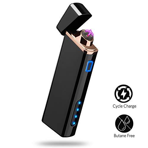 Accendino Elettrico, Accendino USB Ricaricabile Accendino Antivento Accendino al Plasma con...