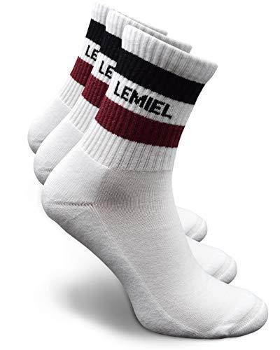 LEMIEL® - Jakob Sport Socken mit Frotteesohle - Sportsocken aus gekämmter Baumwolle - Premium Tennissocken (M (39-42))