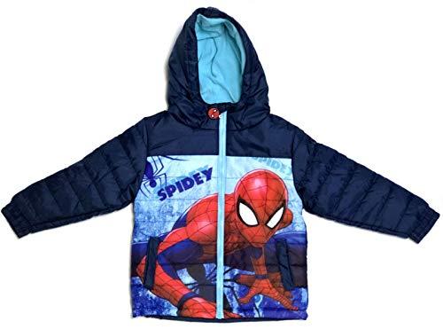 Spiderman Jacke Jungen Winterjacke 3 4 6 8 Jahre 98 104 116 128 cm blau (98)