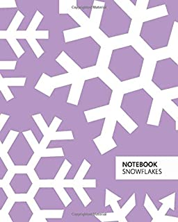 Notebook Snowflakes: (Violet Edition) Fun notebook 192 ruled/lined pages (8x10 inches / 20.3x25.4 cm / Large Jotter)