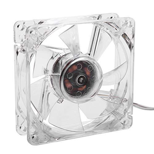 Voluxe Ventilador de refrigeración para CPU, práctico Ventilador de refrigeración USB de 8 CM con luz Colorida de Alto Rendimiento, Estable Transparente para Ordenador de sobremesa, Oficina en casa