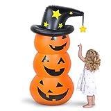 Aywewii Inflatable Pumpkin Tumbler, 4.5Ft Inflatable Pumpkin Decoration, Indoor Outdoor Yard Party Halloween Decoration