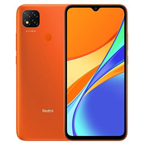 "Xiaomi Redmi 9C Smartphone 3GB RAM 64GB ROM Telefono Intelligente,MTK G25 Octa Core Processore 6,53"" DotDrop schermo,Dual SIM MicroSD,13MP Tripla fotocamera AI Face Unlock Global Versión(Arancia)"