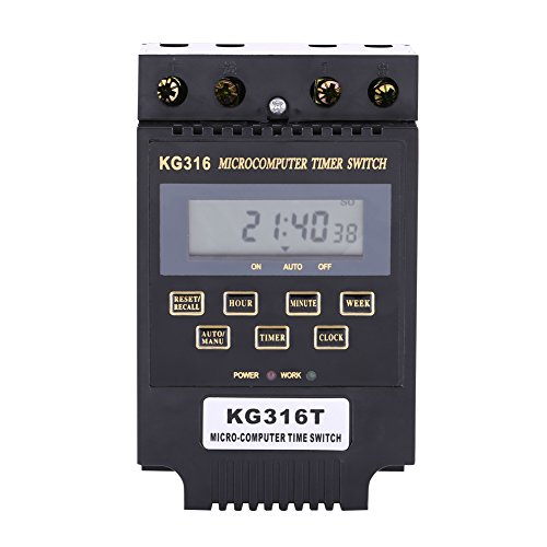 KG316T Mikrocomputer-Timer-Schalter Timer-Controller LCD-Anzeige Digitales programmierbares Timer-Relais Automatisches Ein- und Ausschalten 1PC(AC110V)