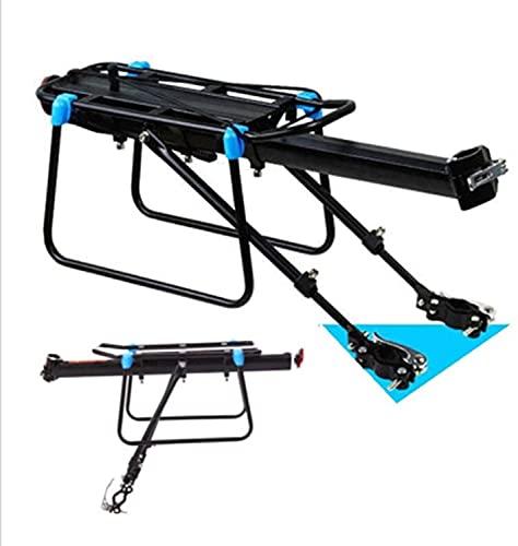 XJYXH Estante de Carga de Equipaje de Bicicletas Ajustable, Equipo de Ciclismo Soporte de pie para Bicicletas portaequipajes (Color : Black, Size : 54x14x28cm)