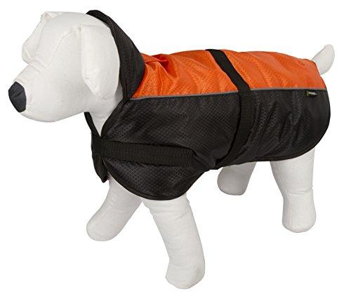 Kerbl 80628 Hundemantel Sölden, Größe M, 40 cm, schwarz/orange