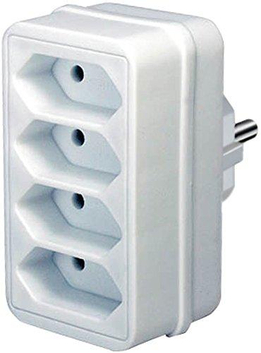 Stopcontact Splitter 4 x Euro Wit