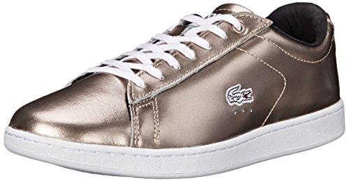 Lacoste Women's Carnaby Sneaker, Gold/Gold, 10 M US