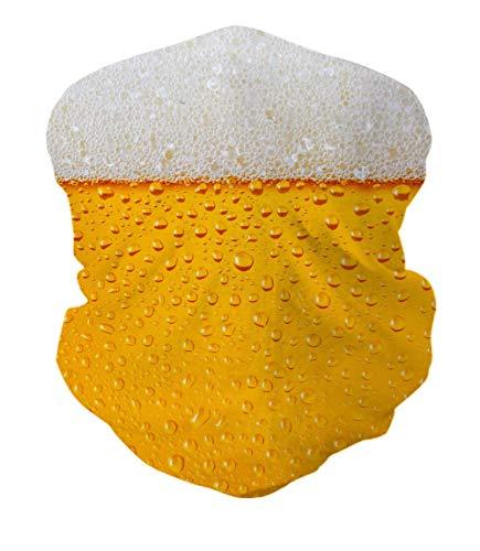 ALISISTER Multifunktionstuch Nahtloses Halstuch Schlauchtuch 3D Bier Bedruckte Kopftuch Stirnband Motorrad Bandana Outdoor UV Staubschutz Face Scarf für Staub,Wandern, Reiten, Motorradfahren