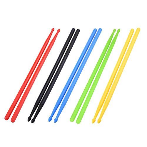 1 Paar 5A Nylon Drum Stick, Student Kinder Drum Sticks Bunte Drum Sticks Drum Set Nylon-Sticks 5 Farben für Drum Set Leichten Profi