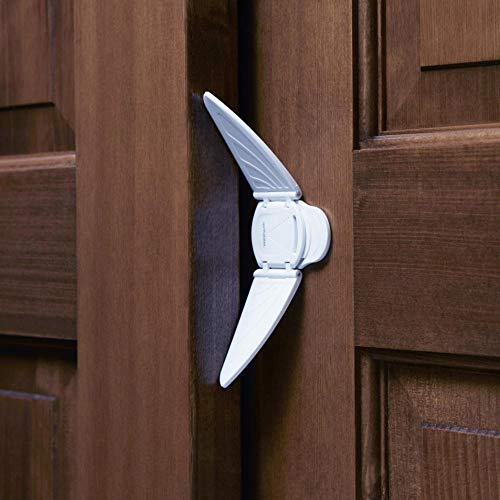 Toddleroo by North States Sliding Door & Window Lock | Safely Secure Sliding Window and Doors | No Tools Required | Works on Glass or Wood | Baby proofing with Confidence (1-Count, White)
