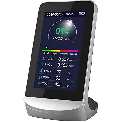 CO2 Messgerät - Kohlendioxid Detektor CO2 Melder CO2-Messgerät mit Thermometer und Hygrometer Luftqualitätsanalysator-Monitor mit Akku 4,3 Zoll Digital LCD Anzeige professionelles CO2-Detektor