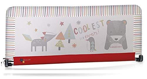 Jane - Barrera de seguridad para cama (130 x 55 cm.) estampado rayas multicolor/rojo