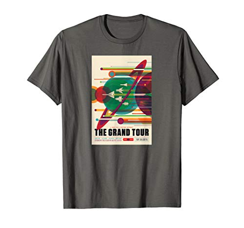 NASA JPL Visions of the Future Space Tourism Travel Poster T-Shirt