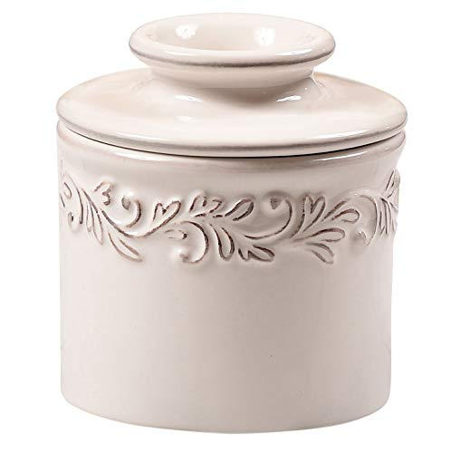 Butter Bell – The Original Butter Bell Crock by L. Tremain, French Ceramic Butter Dish, Antique Collection, White Linen
