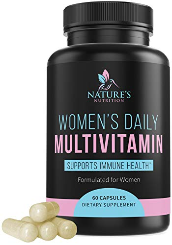 Multivitamin for Women High Potency Daily Vitamins with Biotin 1000mg - Natural Supplement - Made in USA - Best Vitamins A B C D E, Calcium, Zinc, Magnesium, Folic Acid - 60 Capsules