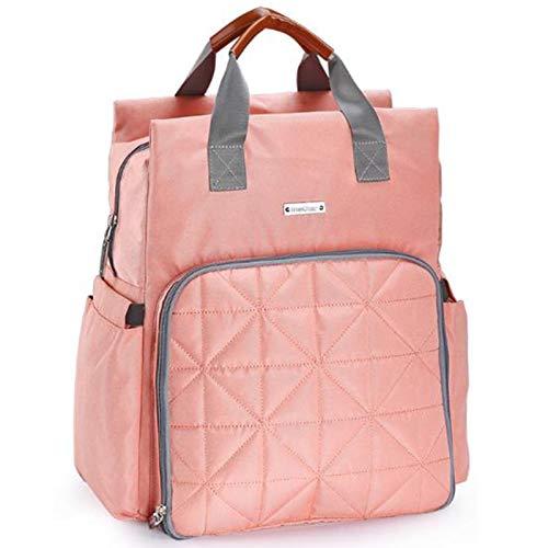 WUQIANG Bolsa de pañales Multifuncional Iarge-Capacidad Impermeable y Lavable a máquina Mami Bolsa Mochila Materno Infantil excursión Bolsa (Color : Pink)