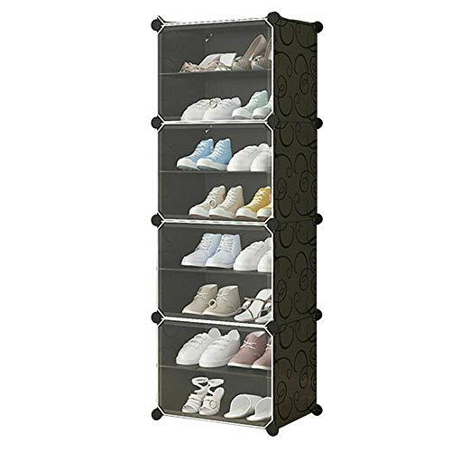 GROSSē Faltbarer Kleiderschrank Organizer Würfel Aufbewahrung für Kleidung, Kinderspielzeug, Badezimmer, Kunststoff, Schrank, Regale unter Treppen, Schuhregal, platzsparende Lösung