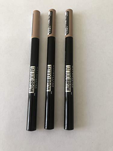 bester Test von maybelline tattoo brow 3 Maybelline Tattoo Brow Pencil (100 Blondinen)