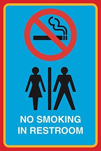 Niet roken In Restroom Print Mannen Vrouw Vrouwelijke Man Restroom Geen Roken Beeld Zakelijk Kantoor Teken