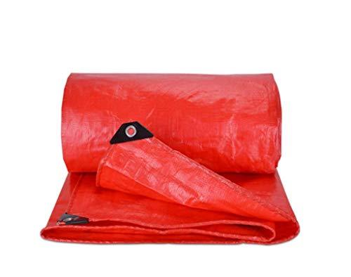 WTT regenwerende stof, rood, dik, regenbescherming, waterdicht, parasol, feest, salut, dekzeil van kunststof, lampenkap voor bruiloft, steiger, stof (afmetingen: 3 x 6 m)