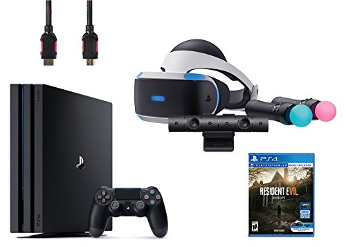 PlayStation VR Start Bundle 5 Items: VR Start Bundle,PS 4 Pro 1TB,VR game disc Resident Evil 7: Biohazard