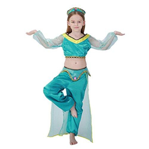 xiemushop Disfraz de Princesa Arabe para Cosplay Halloween Carnaval Disfraz de Bailarina Talla M
