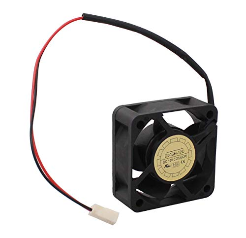 XtremeAmazing New D50SH-12C Fan 505020mm DC12V 0.27A 2pin for YaLn