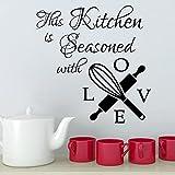 HFDHFH Calcomanías de Pared y lenguaje de Amor para Esta Temporada de Cocina Pegatinas de Pared de Cocina Pegatinas de Pared de harina Artista decoración del hogar 57X58CM