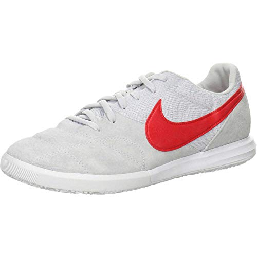 Nike The Premier II Sala, Zapatillas de Fútbol Hombre, Blanco (Pure Platinum/University Red/W 102), 42 EU