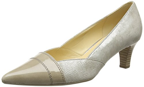 Gabor Amberly, Damen Pumps, Beige (Beige Metallic Leather/Beige Patent), Gr. 42 EU