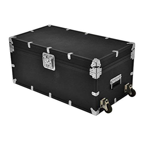 Rhino Trunk & Case Indestructo Travel Trunk, X-Large – Foot Locker Style Reusable Storage Container for UPS/FedEx/Amazon Shipping, Military Deployment, Tradeshows and More; Strong, Durable and Secure