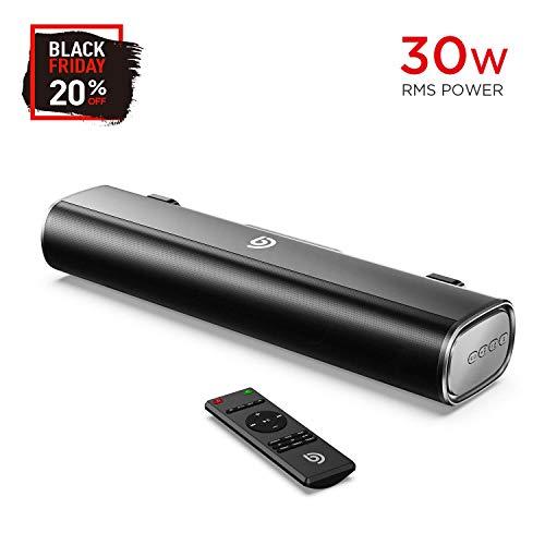 Mini Barra de Sonido 2.0 Canales para TV/PC, BOMAKER 30W Mini Soundbar Portátil...